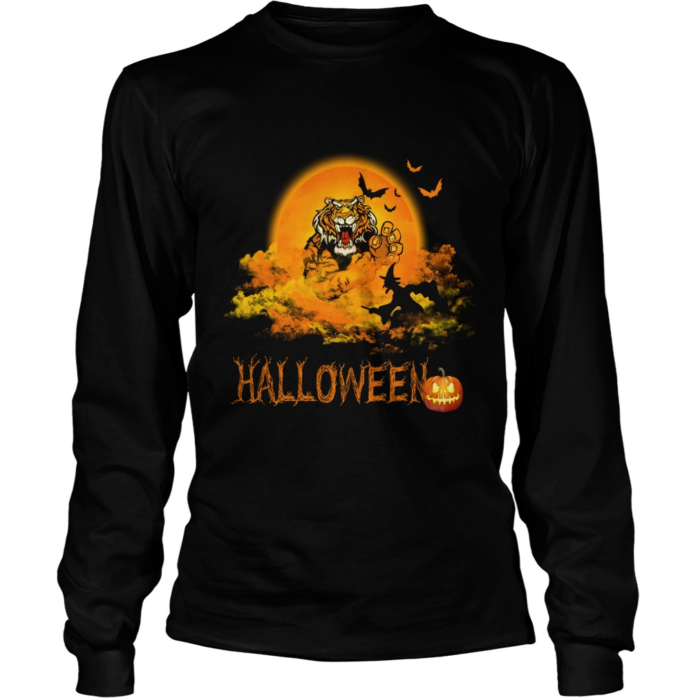 Happy Halloween Tiger Witches Longsleeve