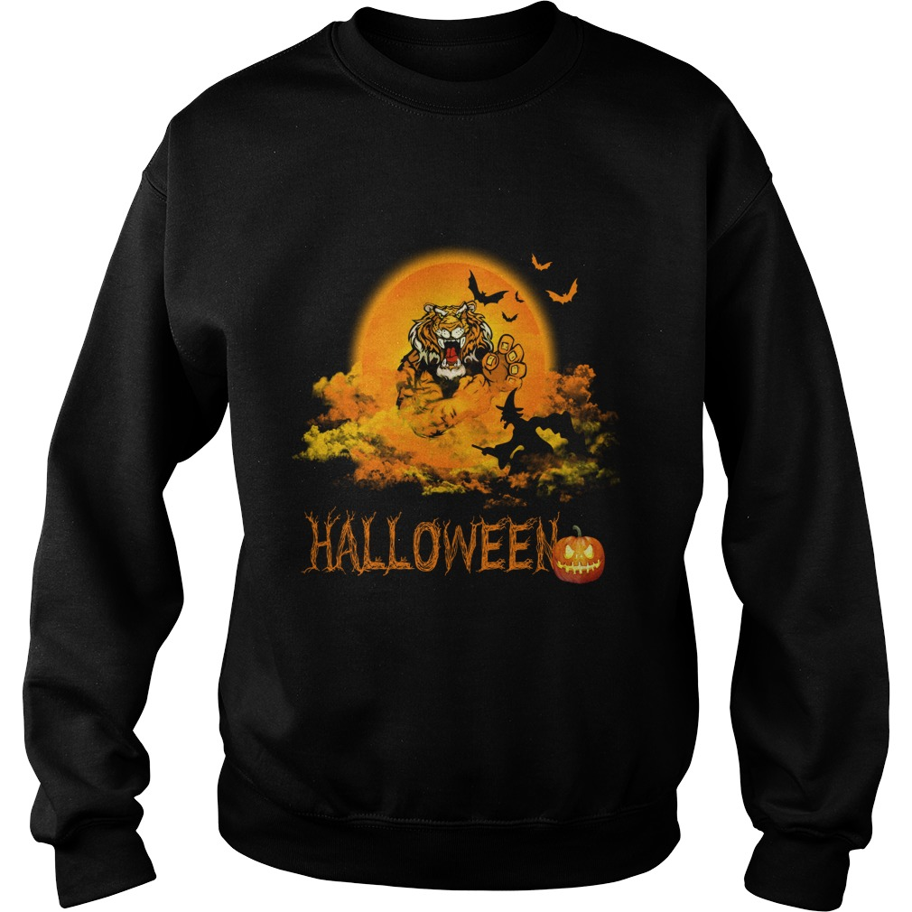 Happy Halloween Tiger Witches Sweat Shirt