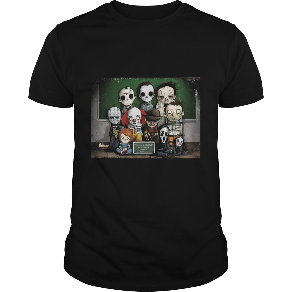 Horror Collage Funny Overlook High Guys Tee