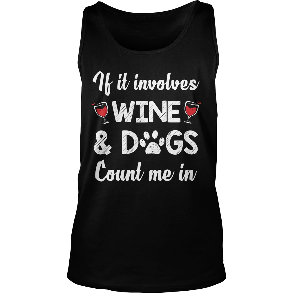Involves Wine Dogs Count Tank Top