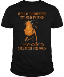 Jack Skellington Hello Darkness My Old Friend I Have Come To Talk With You Again Guys Tee