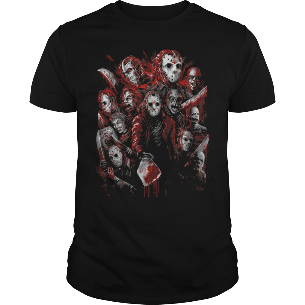 Jason Voorhees Many Faces Guys Tee
