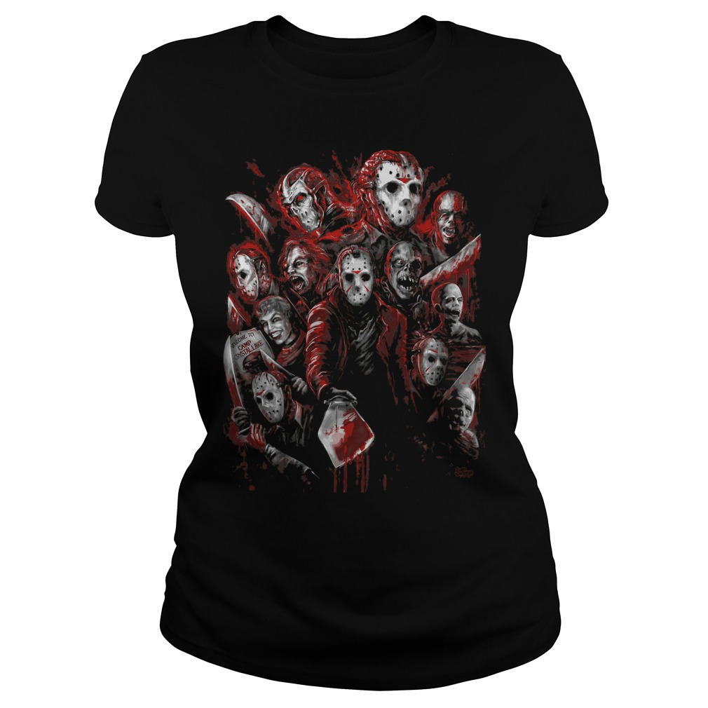 Jason Voorhees Many Faces Ladies Tee