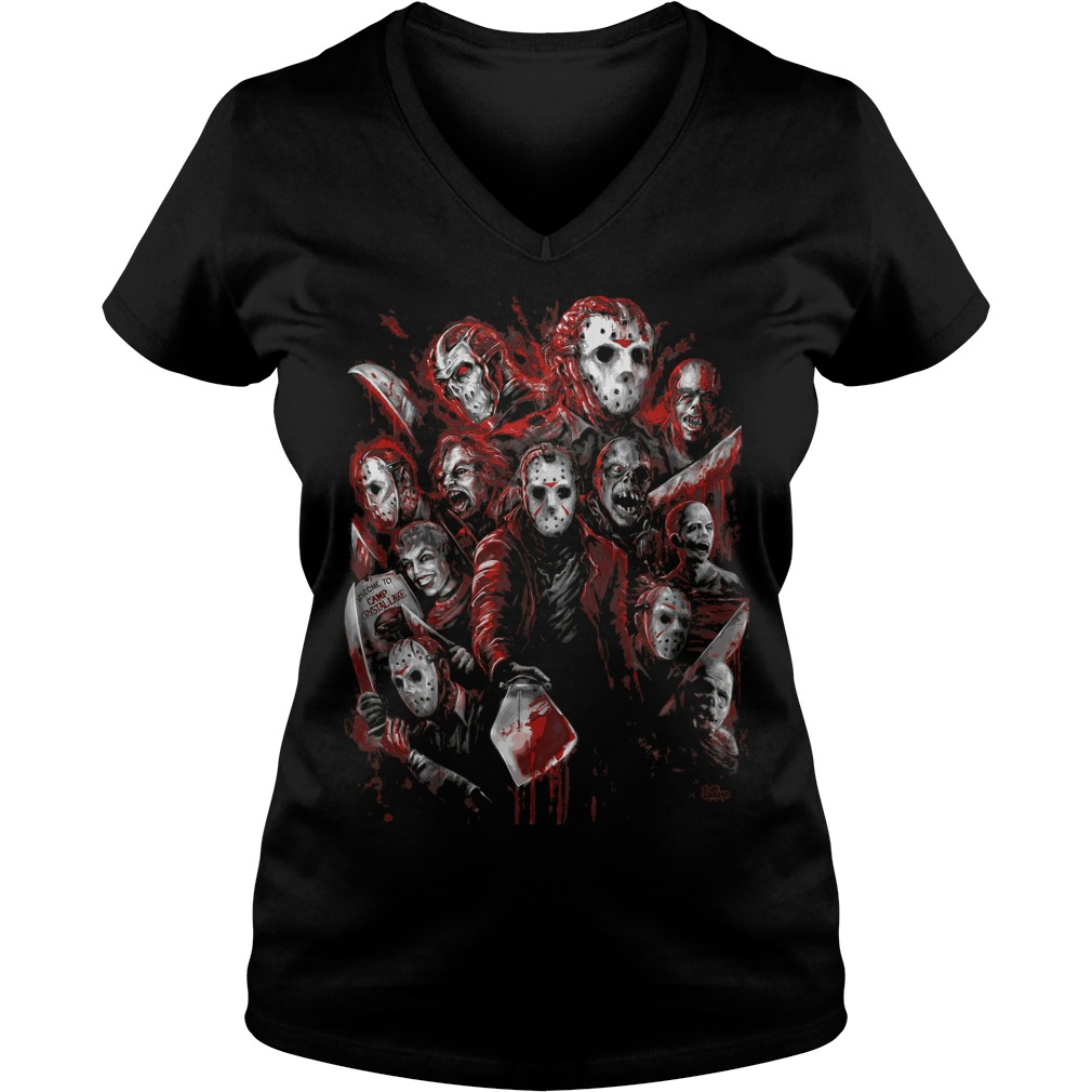 Jason Voorhees Many Faces Ladies V Neck