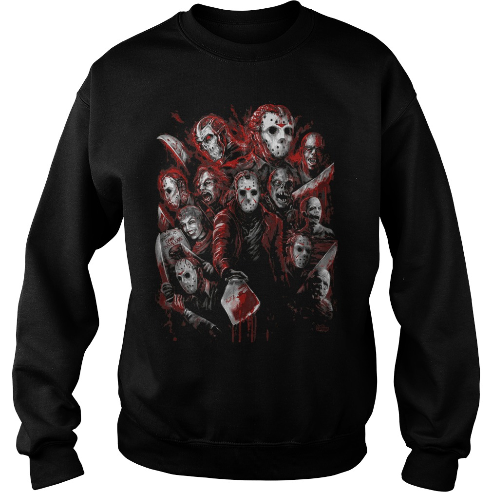 Jason Voorhees Many Faces Sweat Shirt