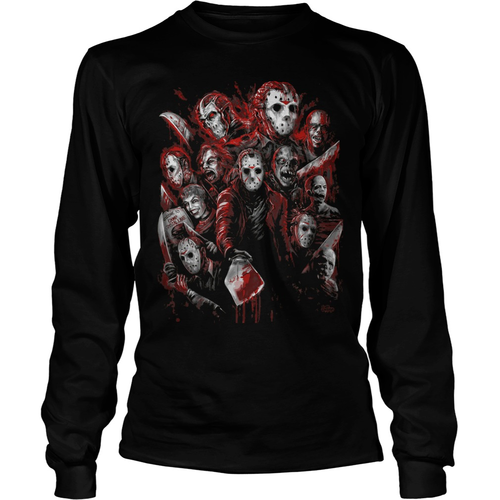 Jason Voorhees Many Faces Unisex Longsleeve Tee