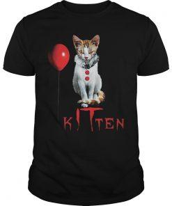 Kitten Clown Scary Fun Spooky Halloween Cat Funny Joke Guys Tee