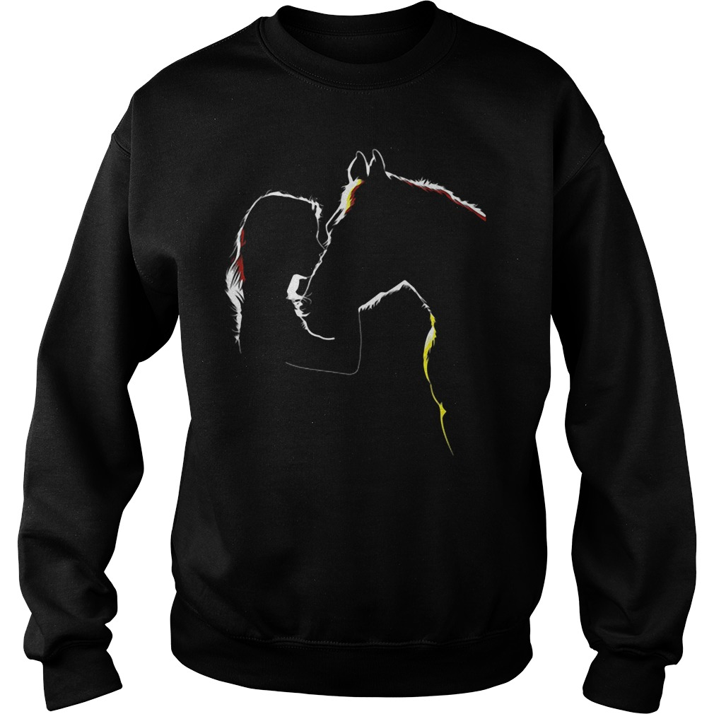 Ladies Horse Related Sweat Shirt