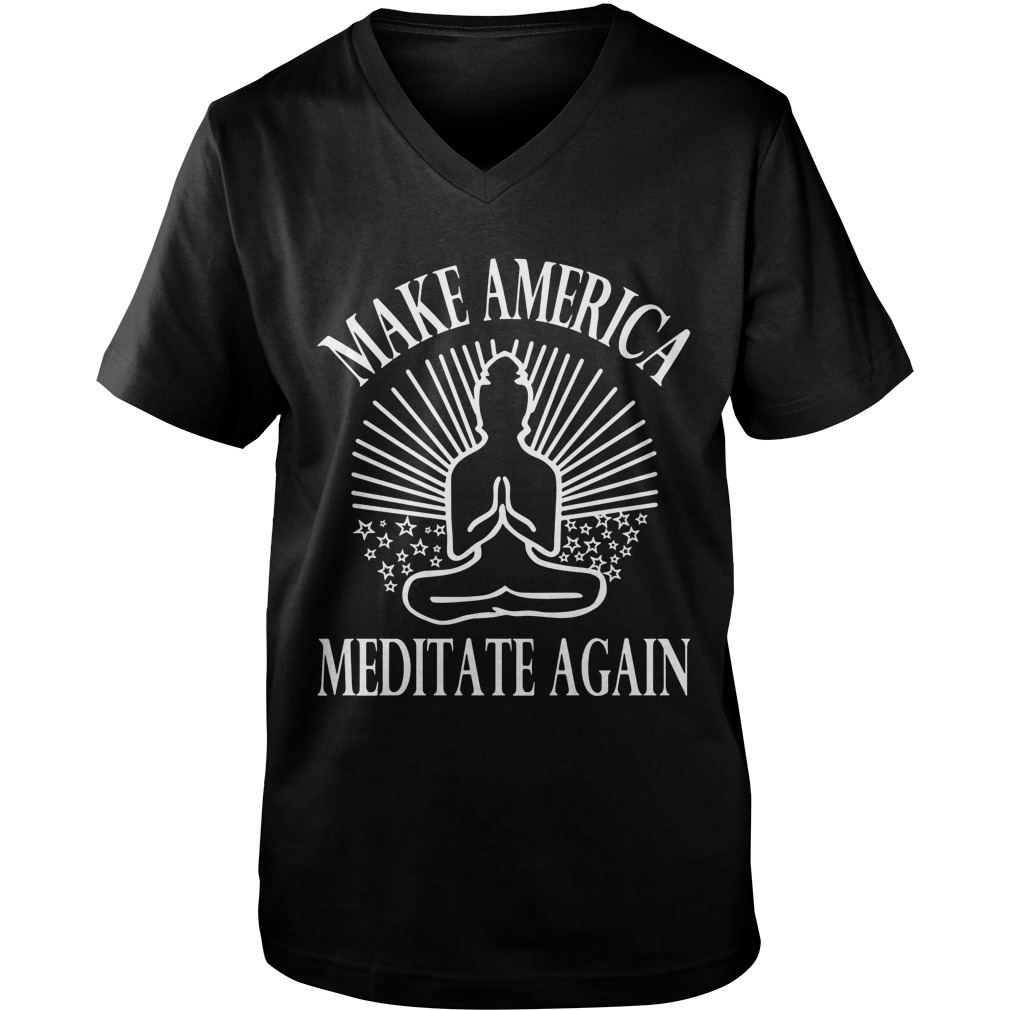 Make America Meditate Guys V Neck