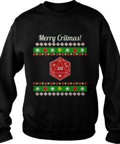 Merry Critmas Christmas Ugly Sweat Shirt