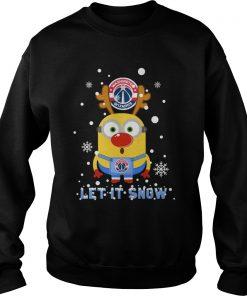 Minion Washington Wizards Let Snow Ugly Christmas Sweat Shirt