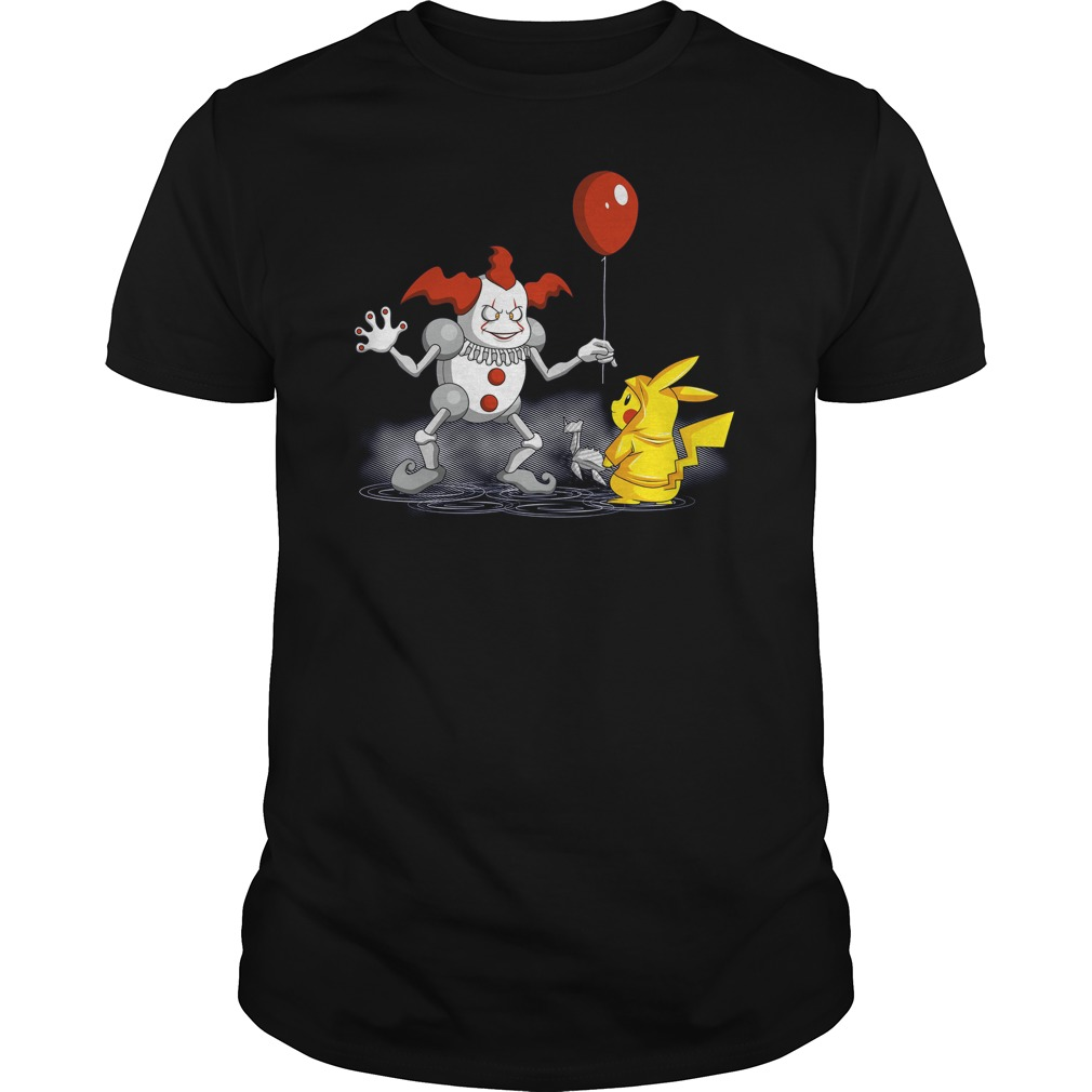 Mr It And Pikachu Guys Tee