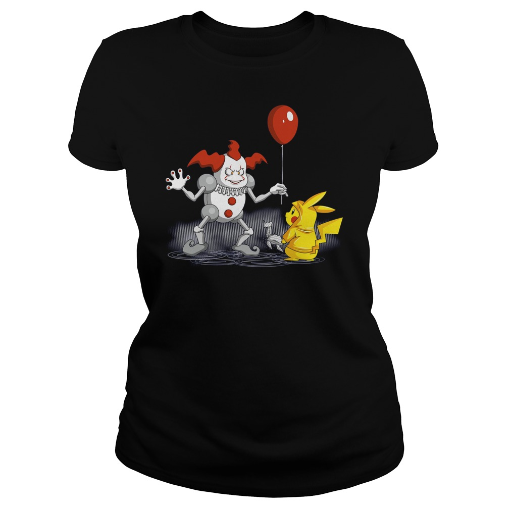 Mr It And Pikachu Ladies Tee