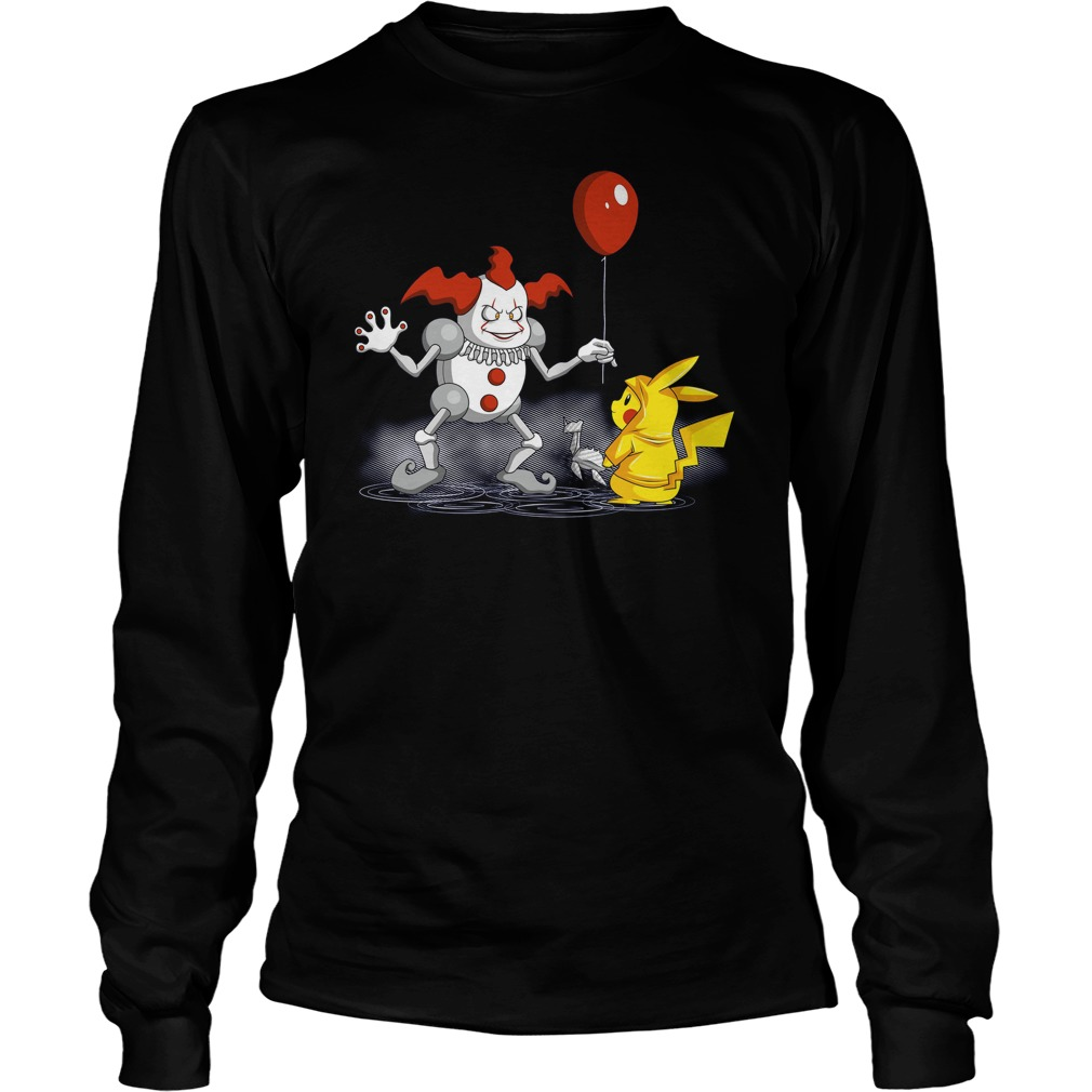 Mr It And Pikachu Unisex Longsleeve