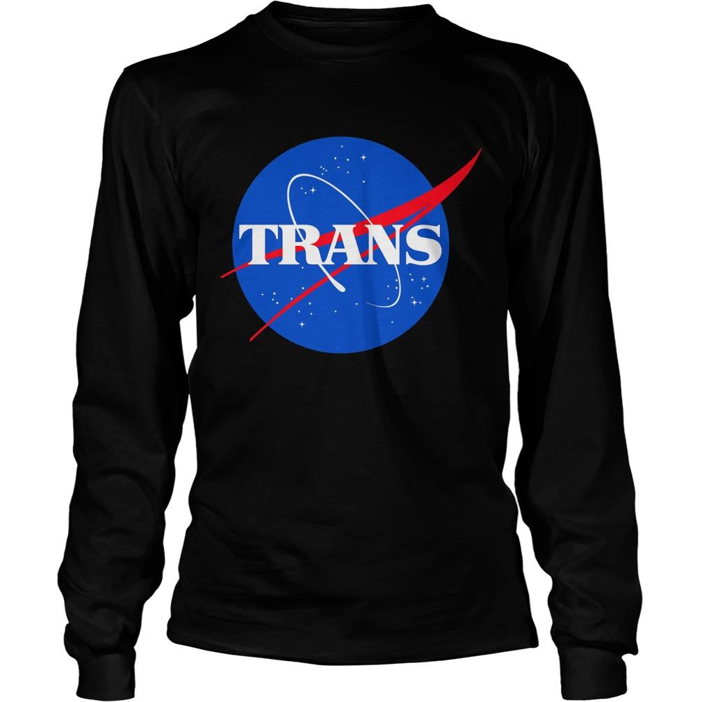 Nasa Trans Pride Logo Longsleeve