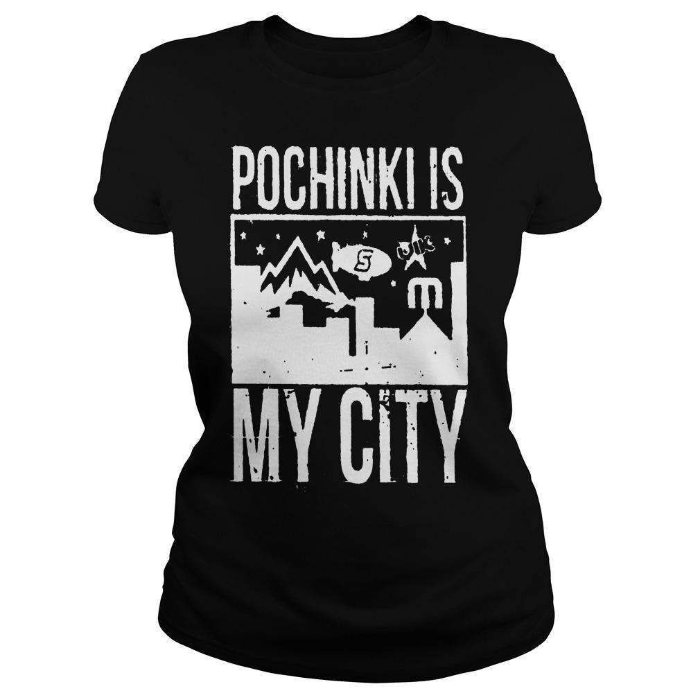 Pochinki Is My City Pupg Ladies Tee
