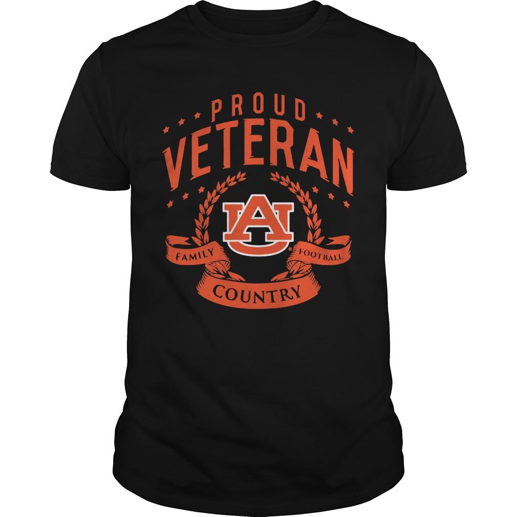 Proud Veteran Auburn Guys Tee