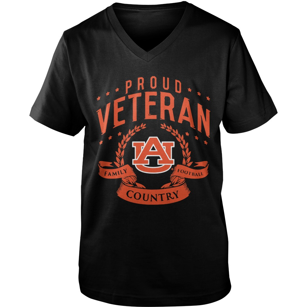 Proud Veteran Auburn Guys V Neck