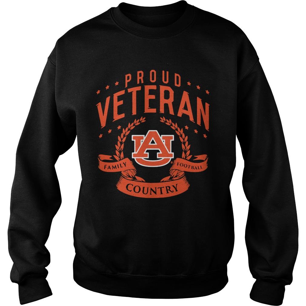 Proud Veteran Auburn Sweat Shirt