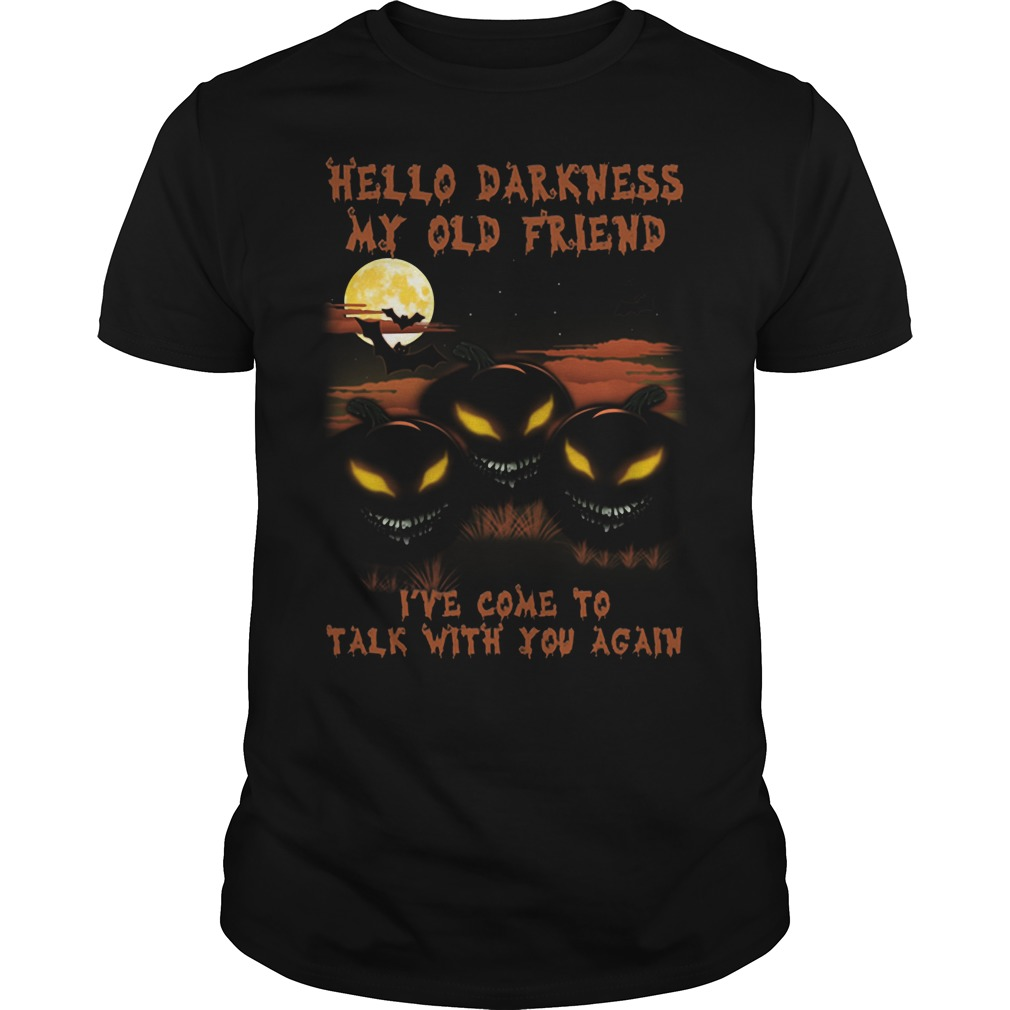 Pumpkin Hello Darkness Old Friend Ive Come Talk Guys Tee