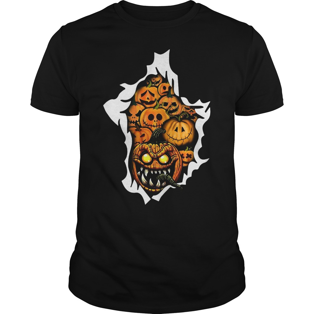 Pumpkin Horror Costume Guys Tee