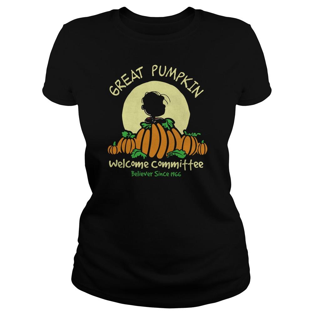 Pumpkin Welcome Believer Since 1966 Ladies