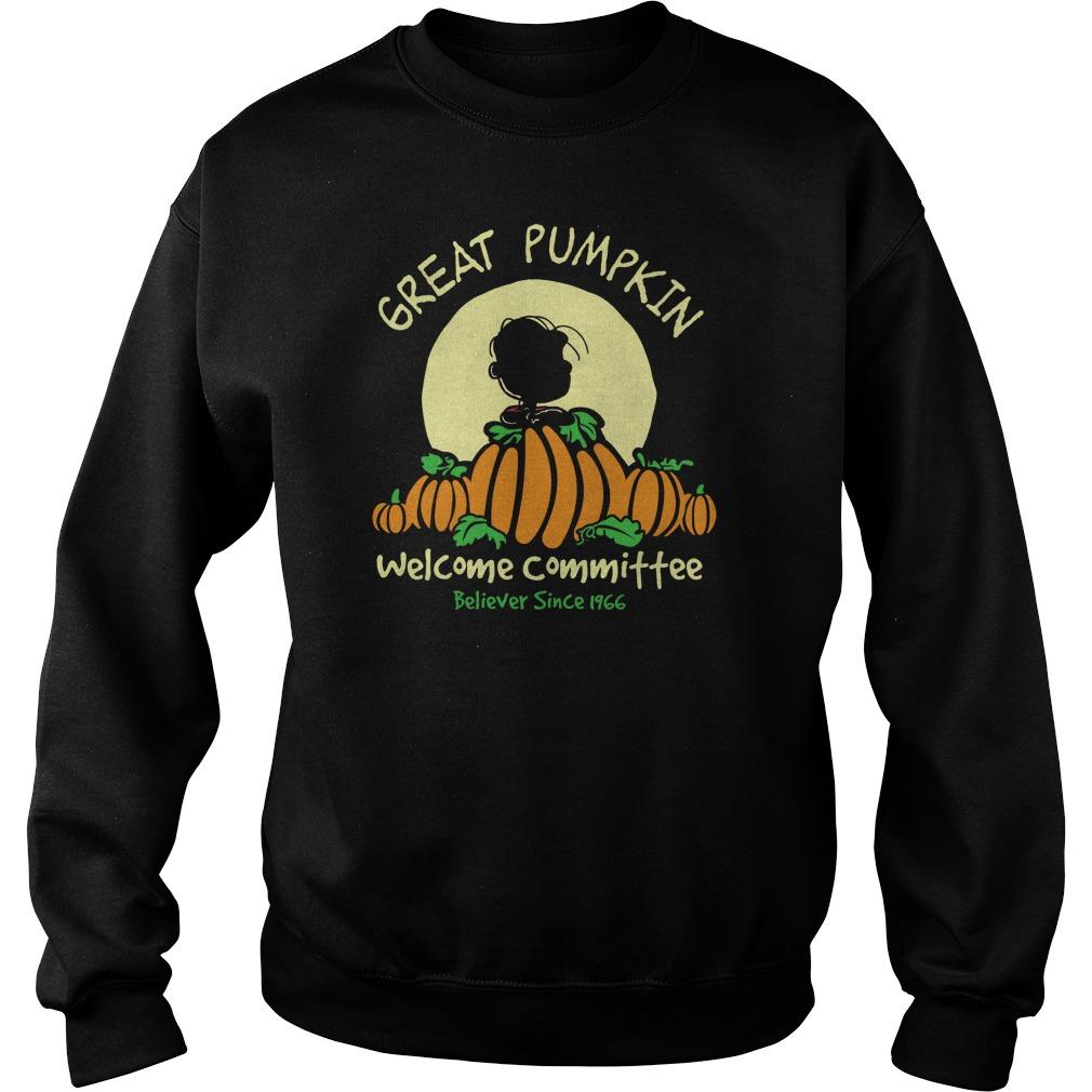 Pumpkin Welcome Believer Since 1966 Sweat Shirt