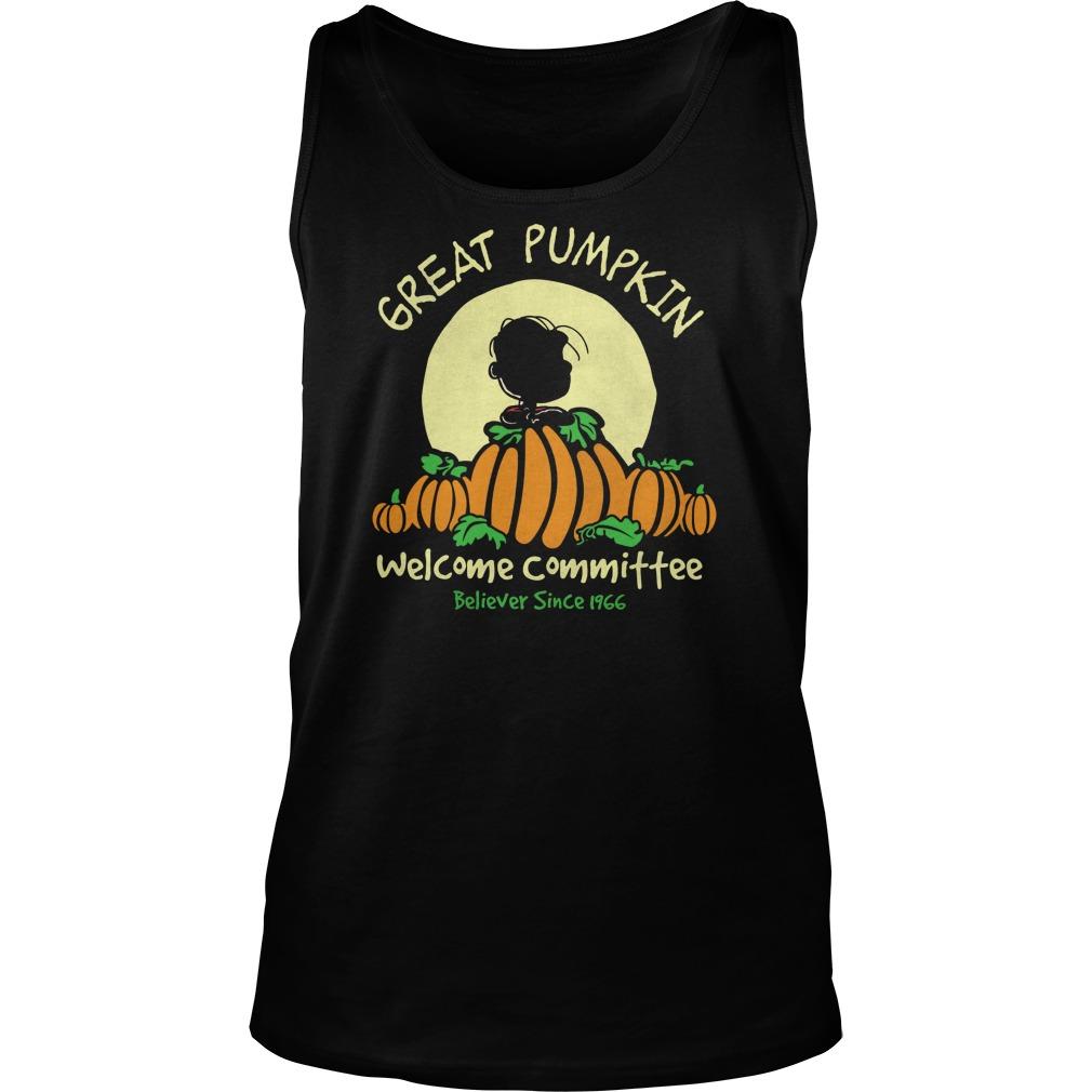 Pumpkin Welcome Believer Since 1966 Tank Top