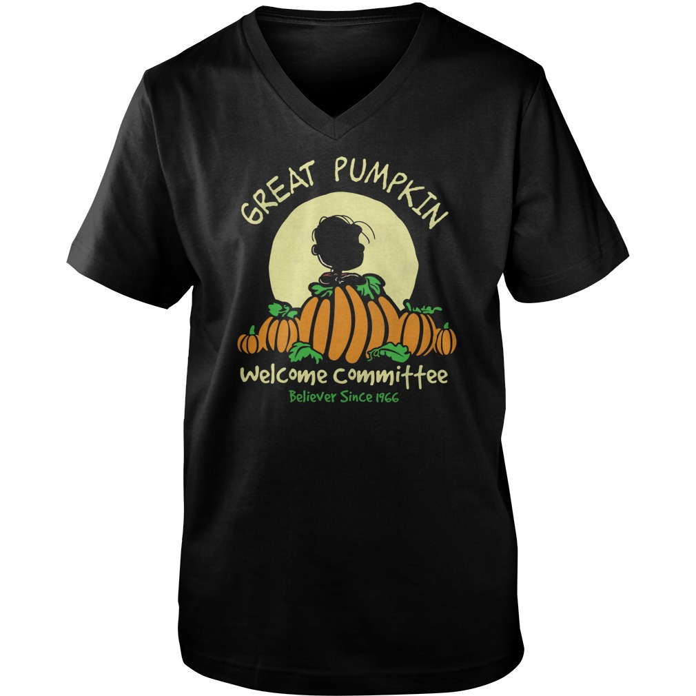 Pumpkin Welcome Believer Since 1966 V Neck