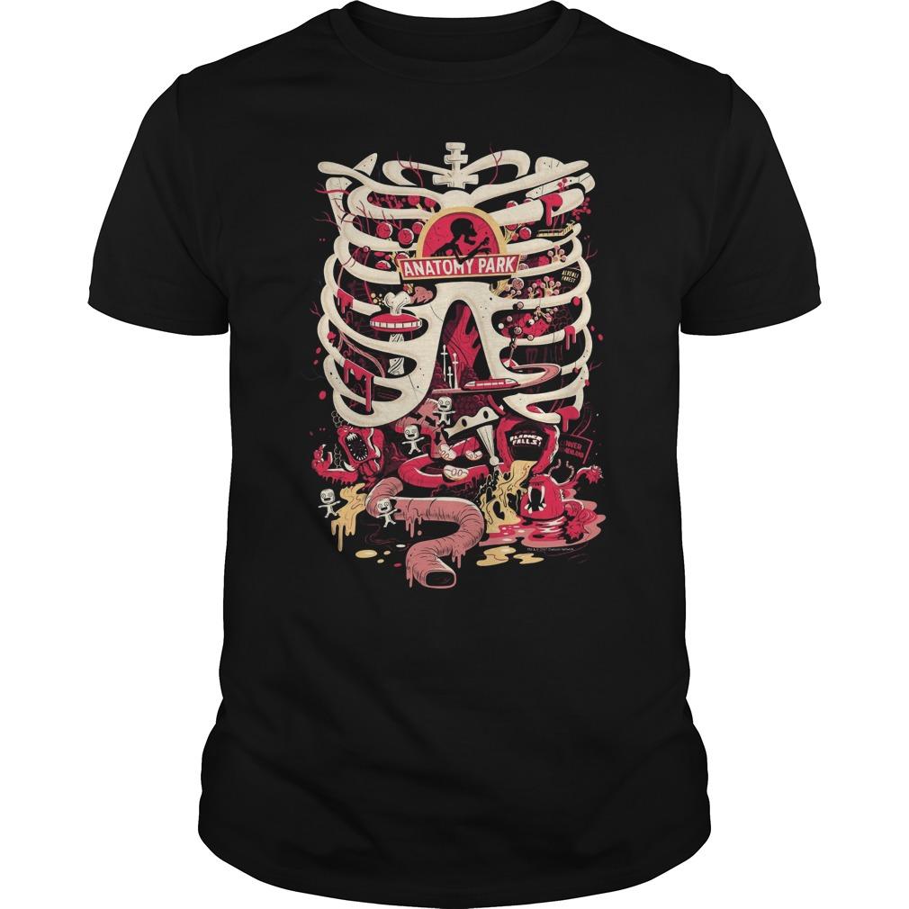 Rick Morty Anatomy Park Scary Halloween Guys Tee
