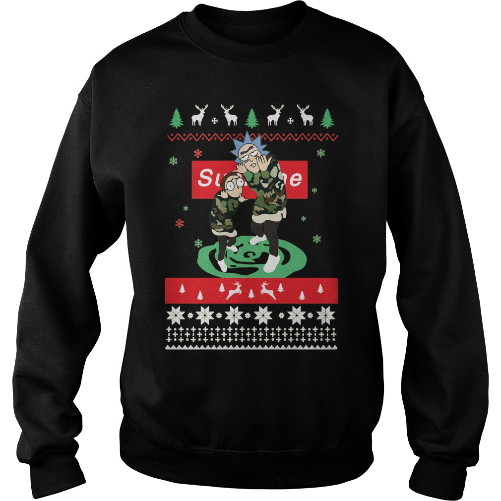 Rick Morty Supreme Christmas Sweatshirt