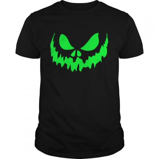 Scary Face Halloween Guys Tee