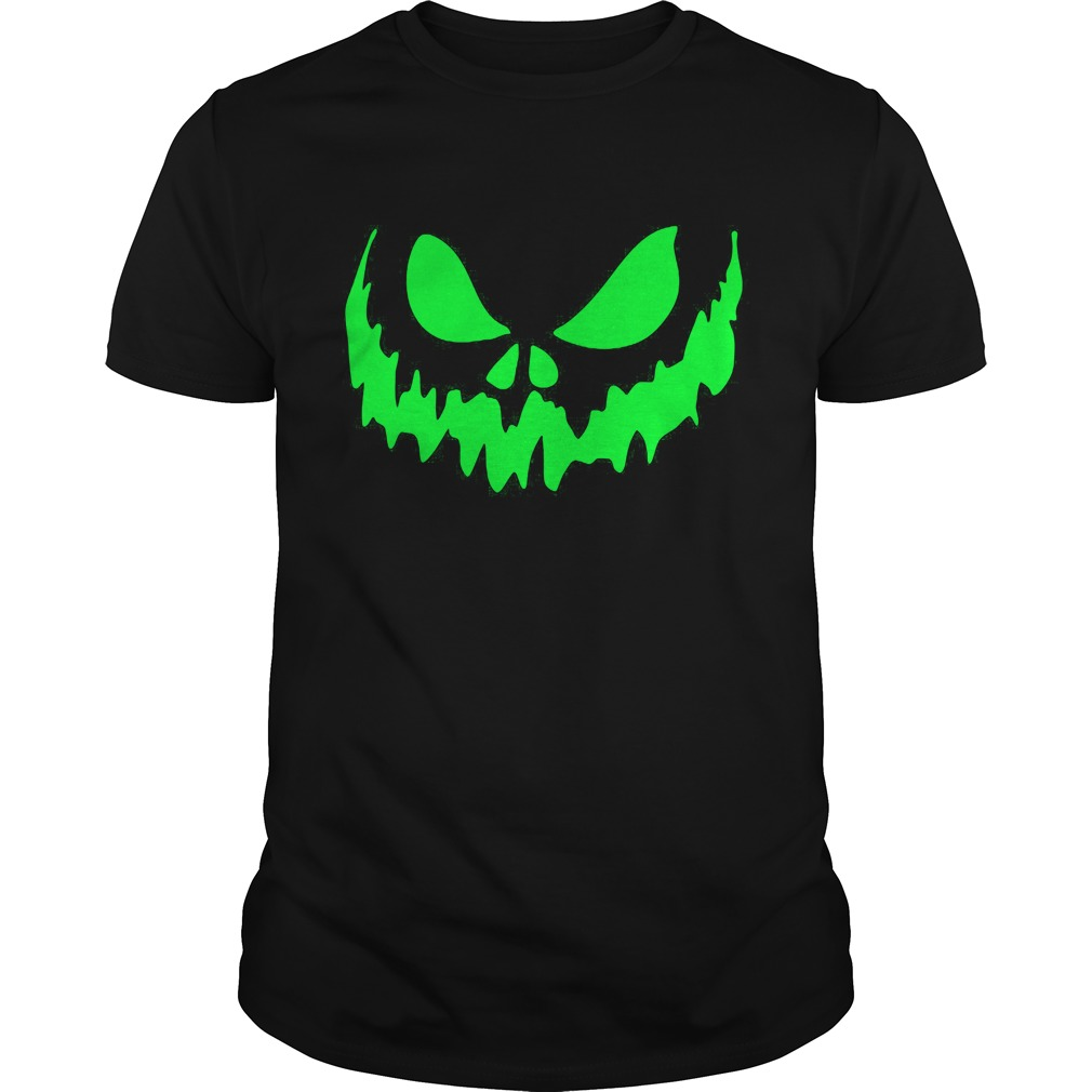 Scary Face Halloween Guys Tee