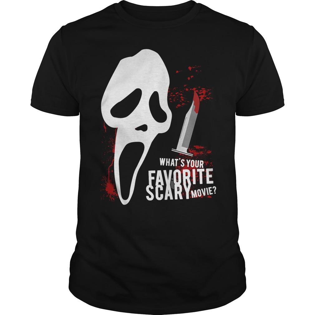 Scream Favorite Scary Movie Guys Tee