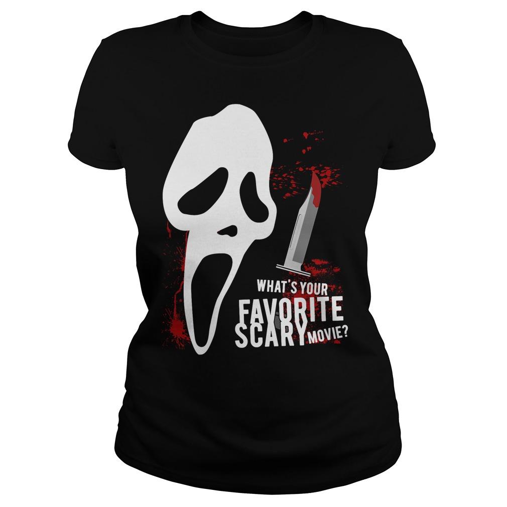 Scream Favorite Scary Movie Ladies Tee
