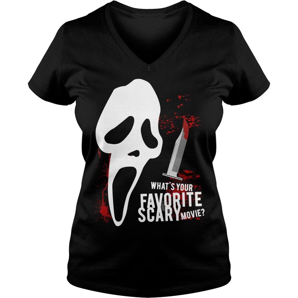 Scream Favorite Scary Movie Ladies V Neck