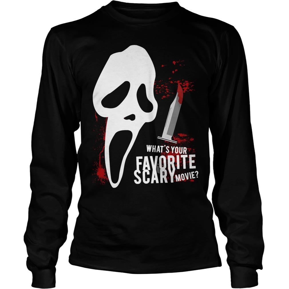 Scream Favorite Scary Movie Unisex Longsleeve Tee