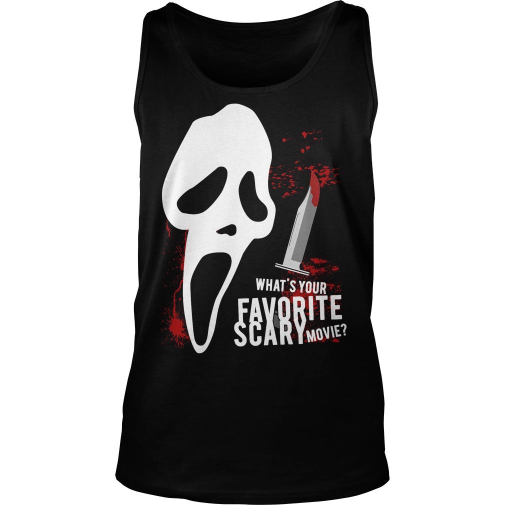 Scream Favorite Scary Movie Unisex Tank Top