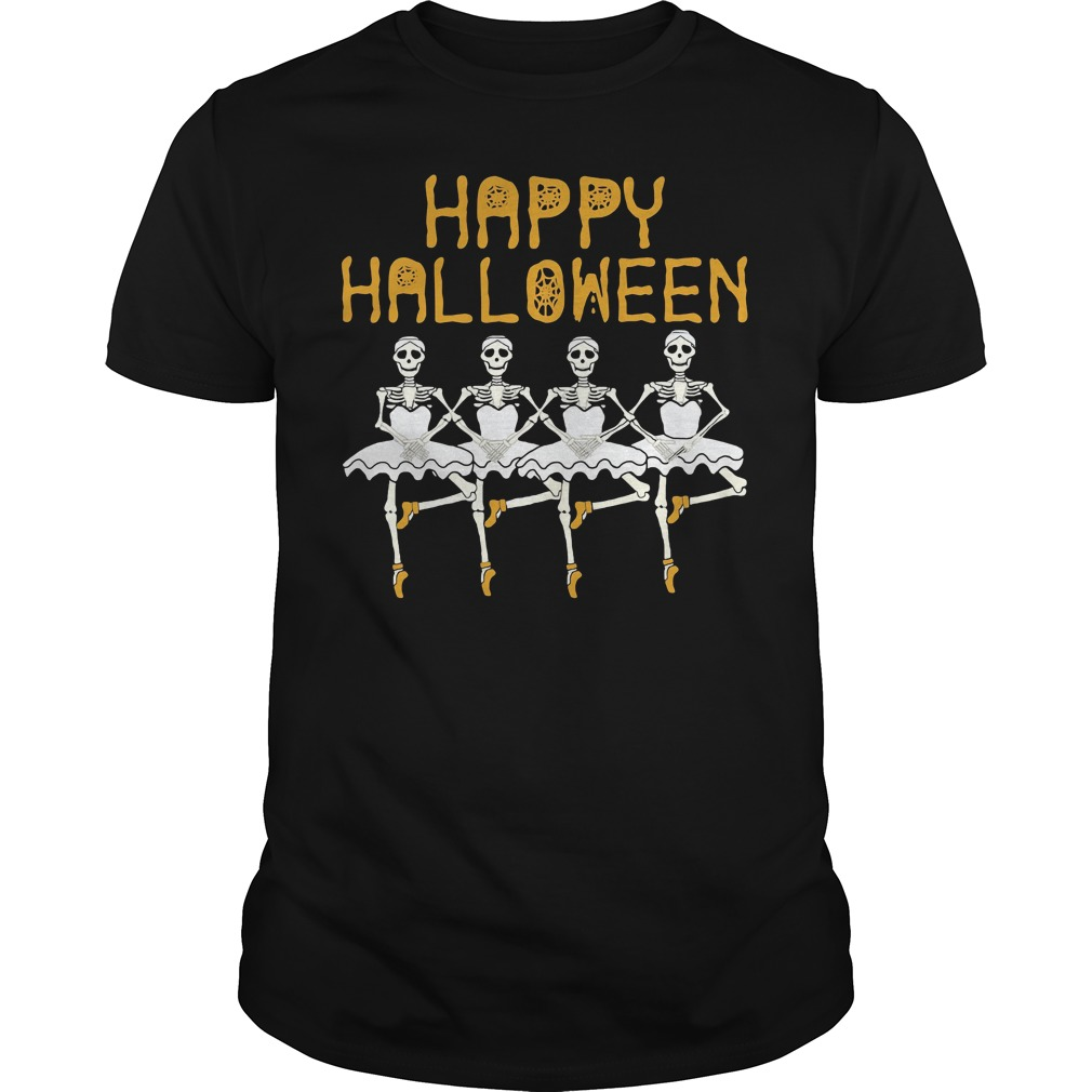 Skeleton Ballet Dance Party Halloween Guys Tê