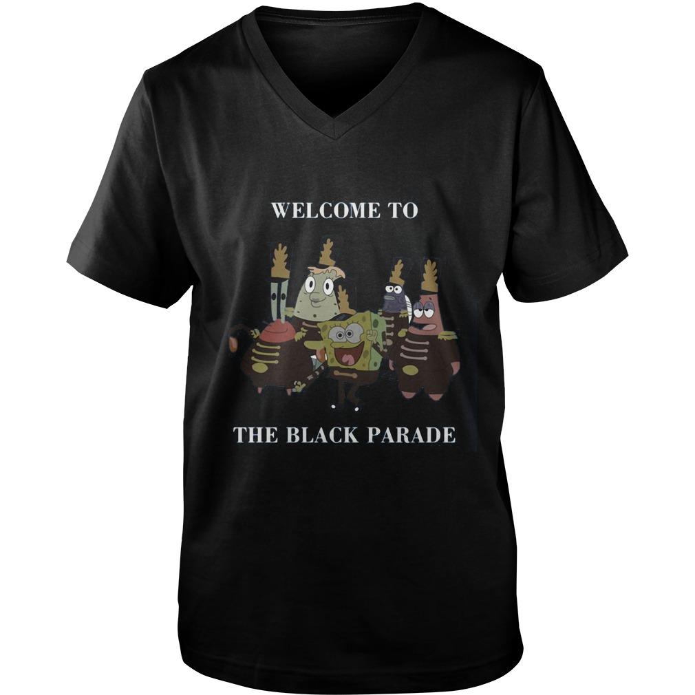Spongebob Squarepants Welcome Black Parade Guys V Neck