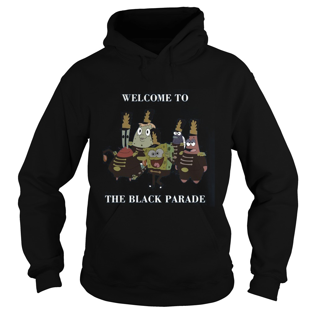 Spongebob Squarepants Welcome Black Parade Hoodie