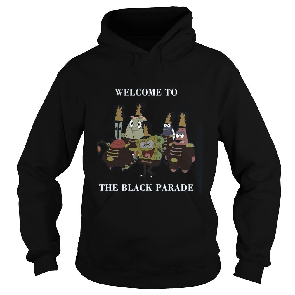 Spongebob Squarepants Welcome Black Parade Hoodie