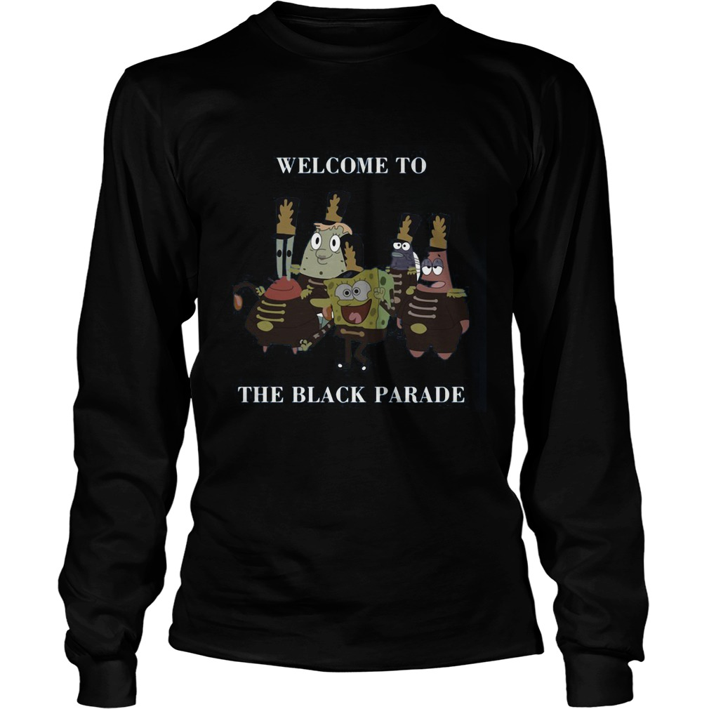 Spongebob Squarepants Welcome Black Parade Longsleeve