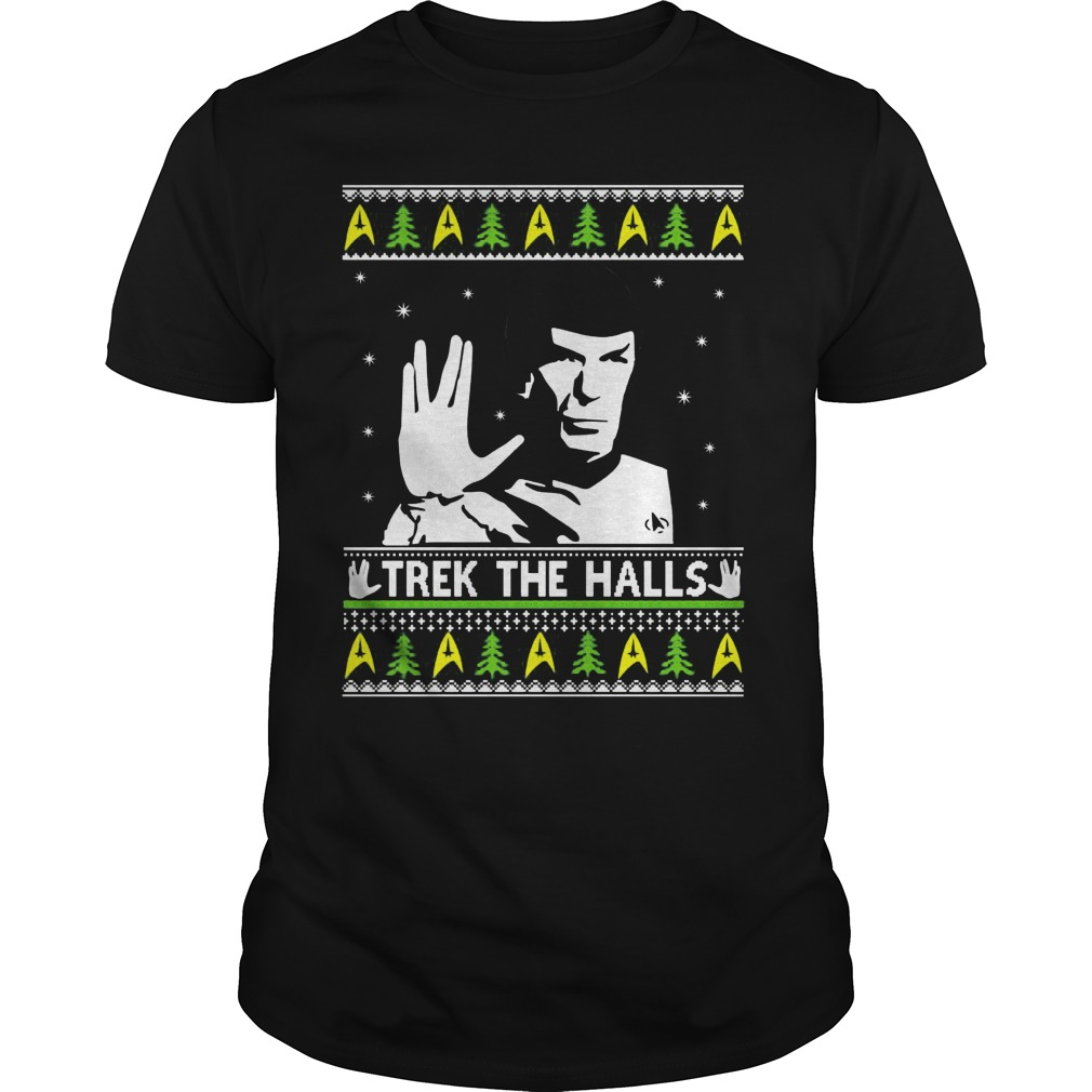 Star Trek Spock Trek The Halls Ugly Guys Tee