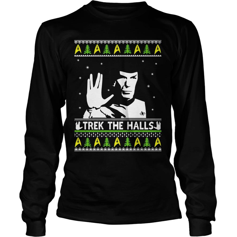 Star Trek Spock Trek The Halls Ugly Shirt Hoodie Sweater