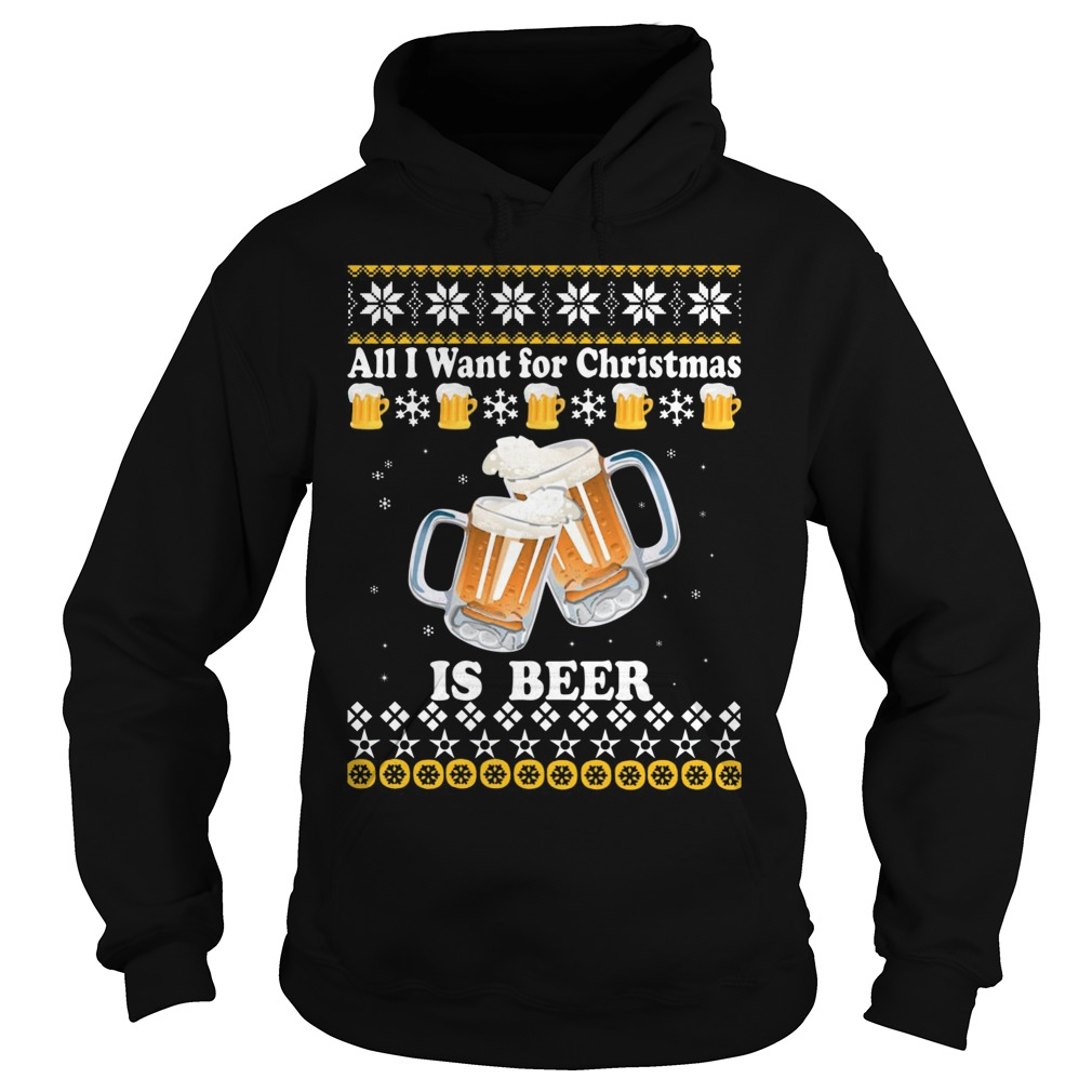 Want Christmas Beer Hoodie