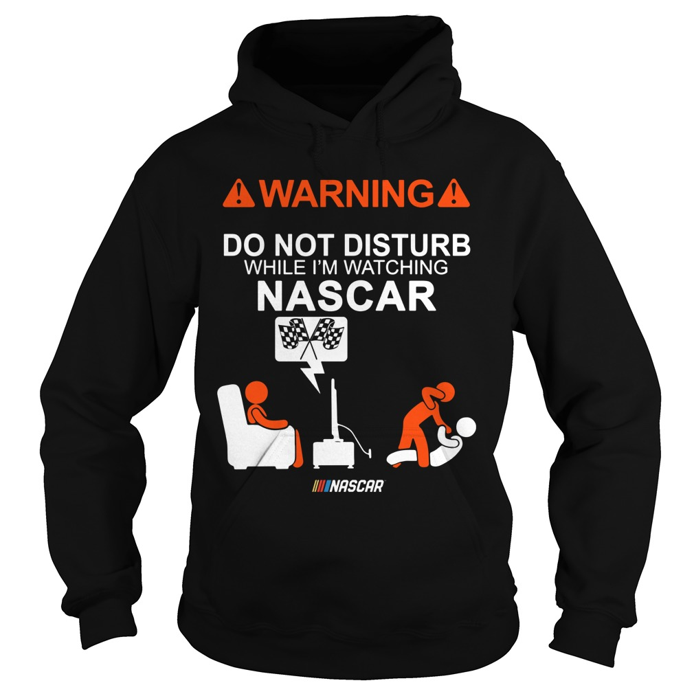 Warning Do Not Disturb While Im Watching Nascar Hoodie