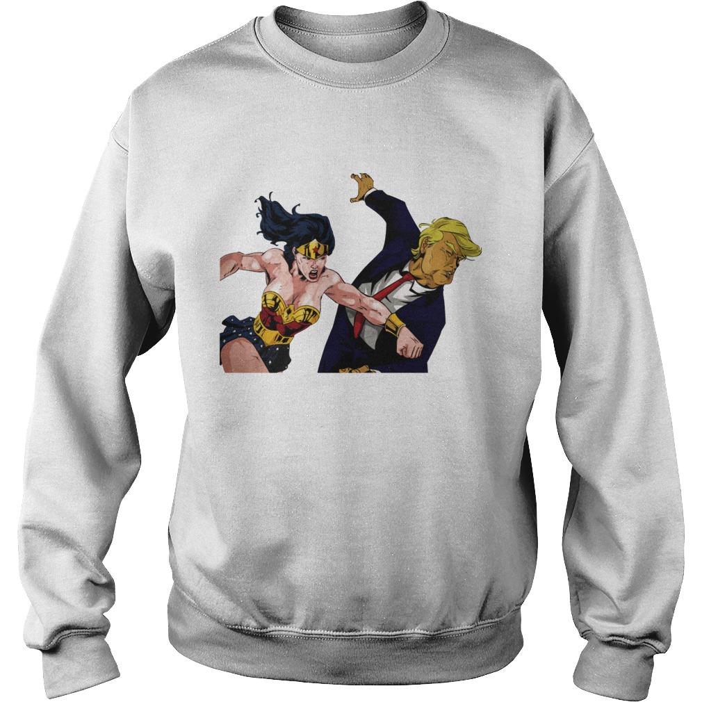 Wonder Woman Punching Donald Trump Sweat Shirt
