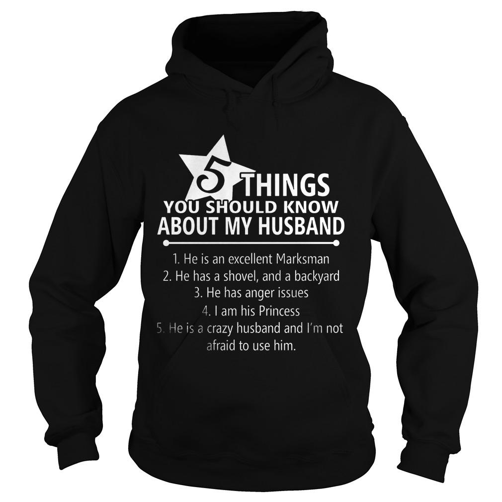 5 Things Know Husband Hoodie