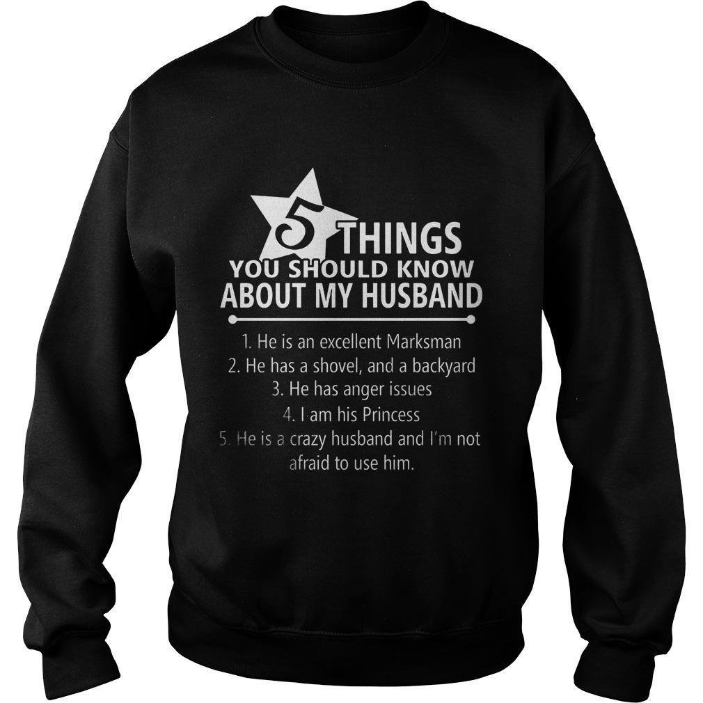 5 Things Know Husband Sweatershirt